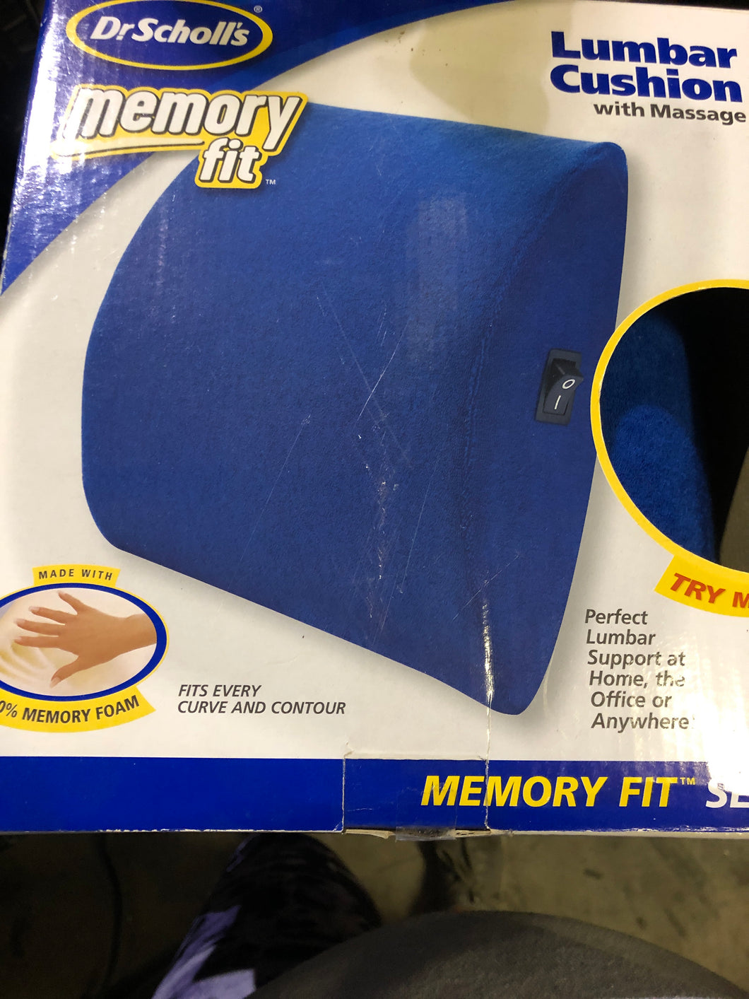 DR Scholls Memory Fit Lumbar Cushion with massage