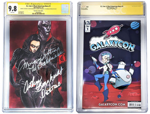Arthur Burghardt & Morgan Lofting Signed G.I. JOE: A Real American Hero! #1 GalaxyCon Exclusive CGC Certified GalaxyCon