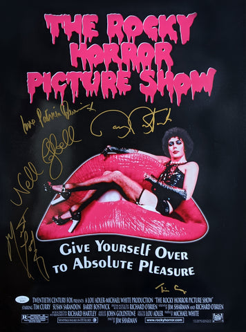RHPS 18x24 Photo Poster Signed Curry Campbell Quinn Bostwick Meat Loaf JSA Certified COA