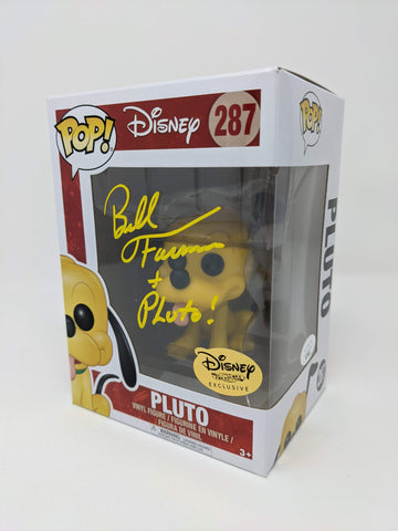 Bill Farmer Disney Pluto #287 Exclusive Signed JSA Funko Pop Auto GalaxyCon