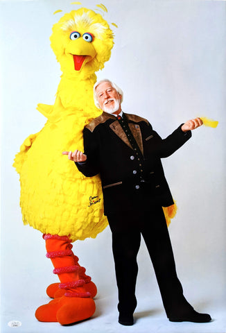 Caroll Spinney Sesame Street 16x24 Photo Signed Autographed JSA Certified COA GalaxyCon