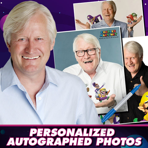 Charles Martinet: Personalized Autograph Signing on 8x10 Photo