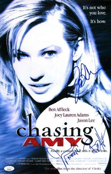 Chasing Amy 11x17 Poster Signed Autograph Mewes O'Halloran Adams JSA Certified COA GalaxyCon
