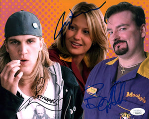 Clerks 8x10 Photo Signed Autograph O'Halloran Mewes Adams JSA Certified COA Auto GalaxyCon