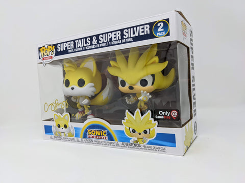 Colleen O'Shaughnessy Sonic Super Tails Silver 2 Pack Exclusive Signed JSA Funko Pop GalaxyCon