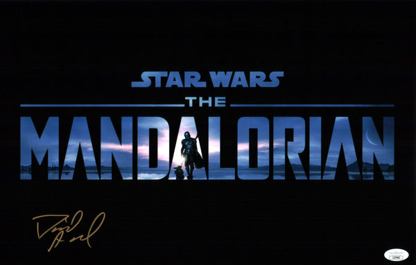 David Acord Star Wars The Mandalorian 11x17 Poster Signed Autograph JSA Certified COA GalaxyCon