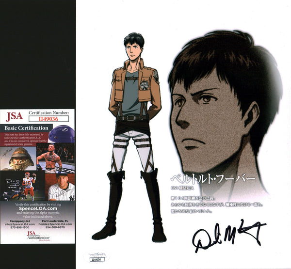 David Matranga Attack on Titan 8x10 Photo Signed Autographed JSA Certified COA GalaxyCon