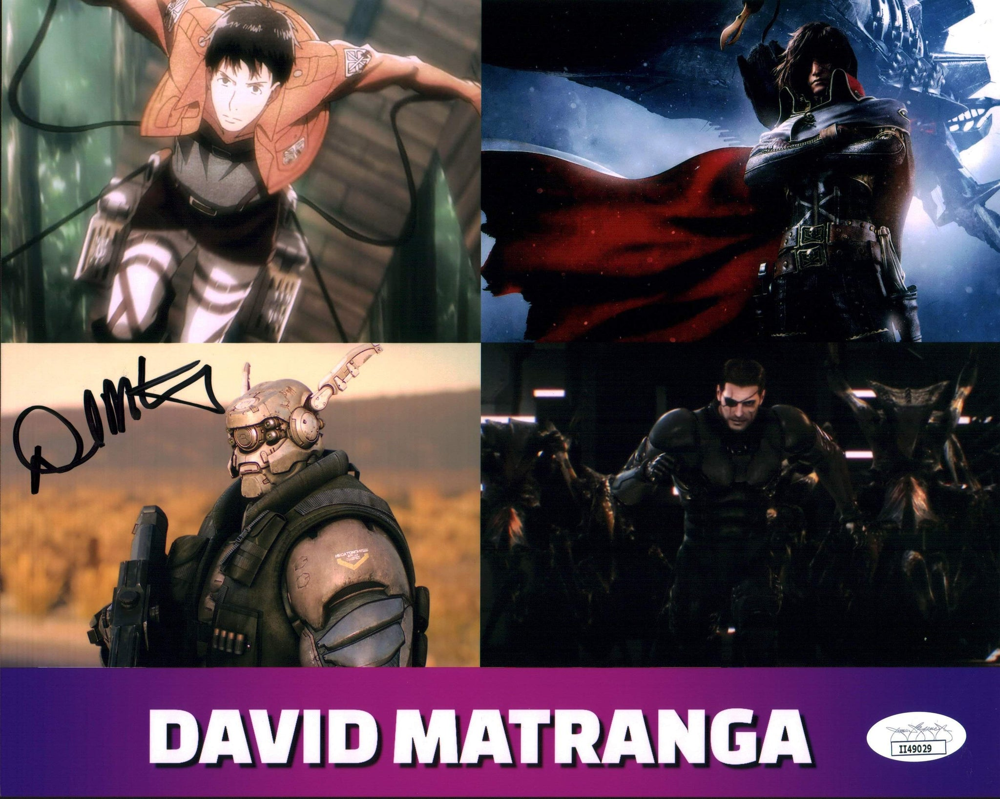 David Matranga Character Compilation 8x10 Photo Signed Autographed JSA Certified COA GalaxyCon