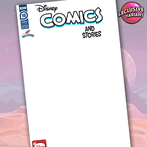 Disney Comics & Stories #10 Exclusive GalaxyCon Blank Sketch Cover Variant GalaxyCon