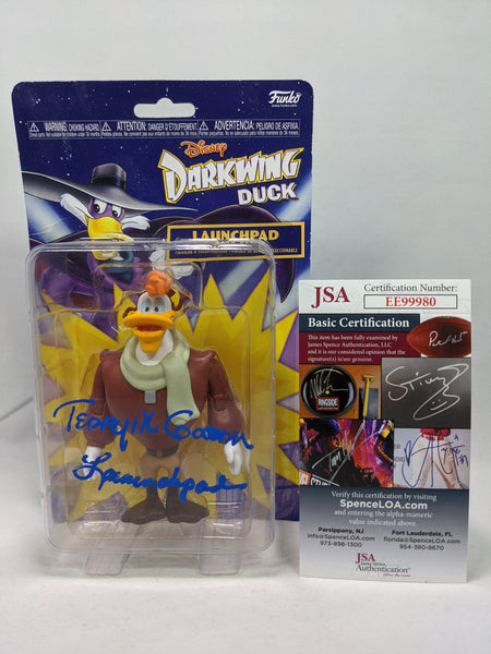 Disney Darkwing Duck JSA Certified Funko Vinyl Figure Signed by Terence McGovern GalaxyCon
