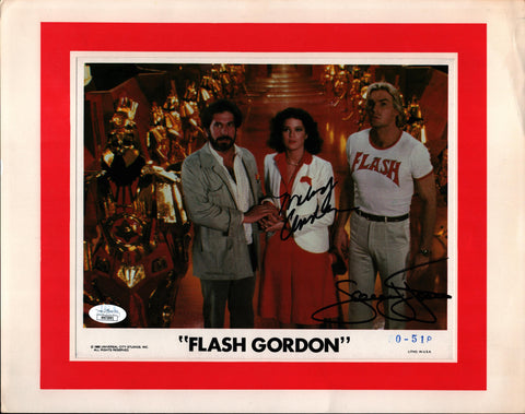 Flash Gordon 8x10 Lobby Card JSA Certified COA Signed by Sam Jones & Melody Anderson GalaxyCon