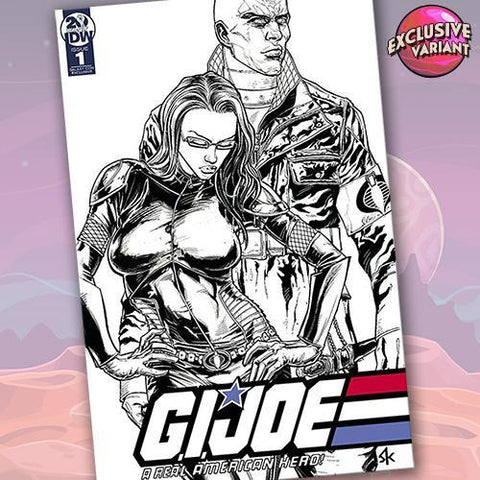 G.I. JOE: A Real American Hero #1 GalaxyCon Exclusive B&W Sketch Variant GalaxyCon