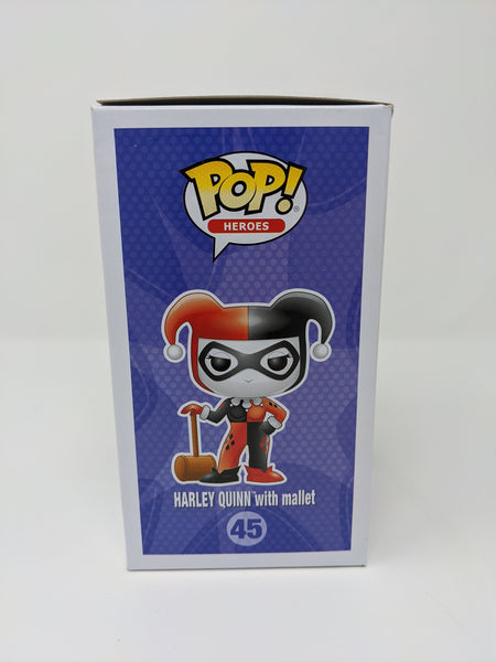 Harley Quinn With Mallet #45 JSA Certified Funko Pop Signed by Jen Brown GalaxyCon