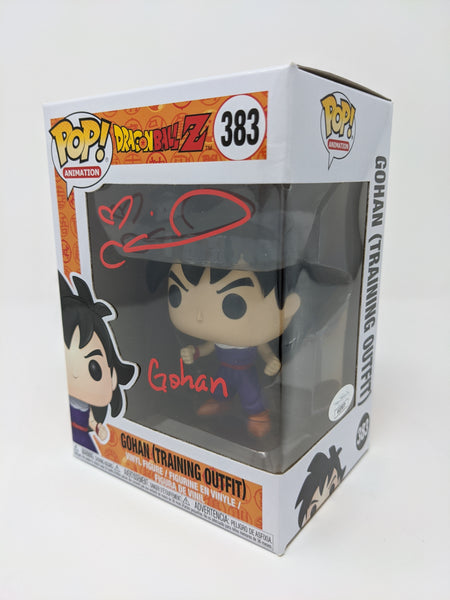 Colleen Clinkenbeard Dragon Ball Z Gohan (Training Outfit)	#383 Signed JSA Funko Pop