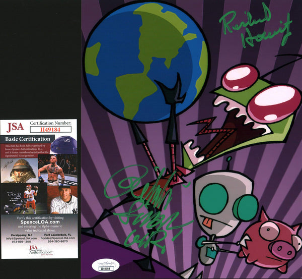 Invader Zim 8x10 Photo Signed Autograph Horvitz Simons JSA Certified COA GalaxyCon