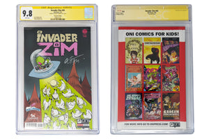 Invader Zim #45 Sealed GalaxyCon Exclusive CGC Certified Signed by Gustavo Duarte GalaxyCon