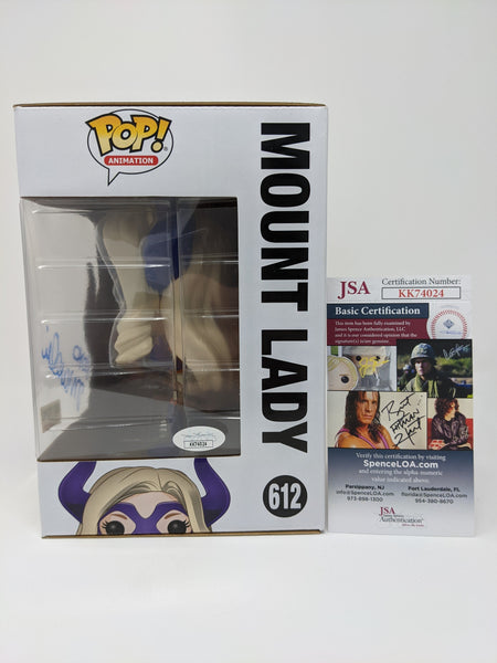 Jamie Marchi My Hero Academia Mount Lady #612 Exclusive Signed JSA Funko Pop GalaxyCon