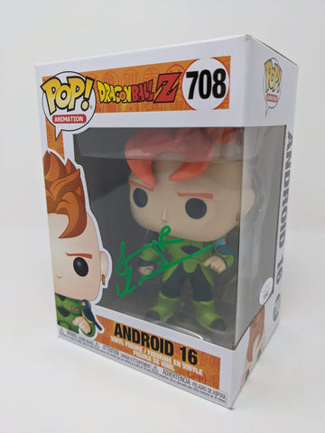 Jeremy Inman Dragon Ball Z Android 16 #708 Signed JSA Funko Pop GalaxyCon