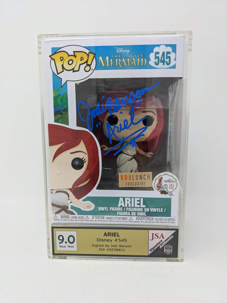 Jodi Benson Disney Little Mermaid Ariel #545 Exclusive Signed VVGS JSA Funko Pop Auto GalaxyCon