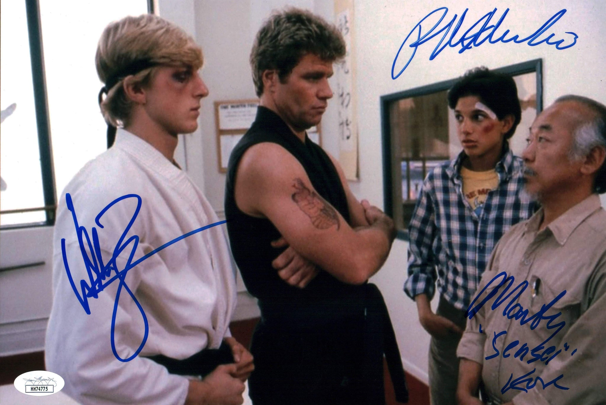 Karate Kid 8x12 Photo Signed Autograph Macchio Zabka Kove JSA Certified COA GalaxyCon