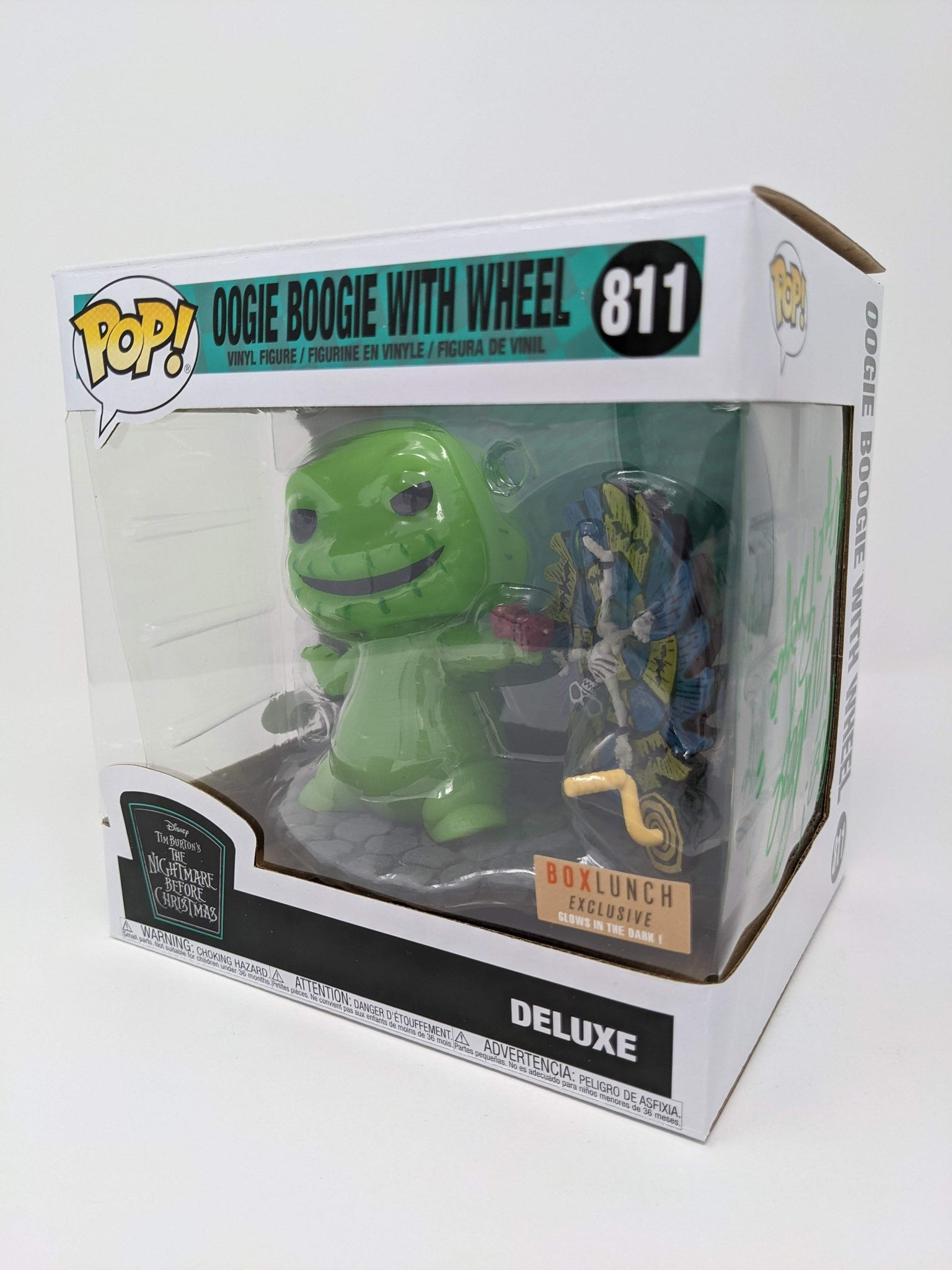 Ken Page Oogie Boogie with Wheel #811 Exclusive Signed JSA Deluxe Funko Pop Auto GalaxyCon