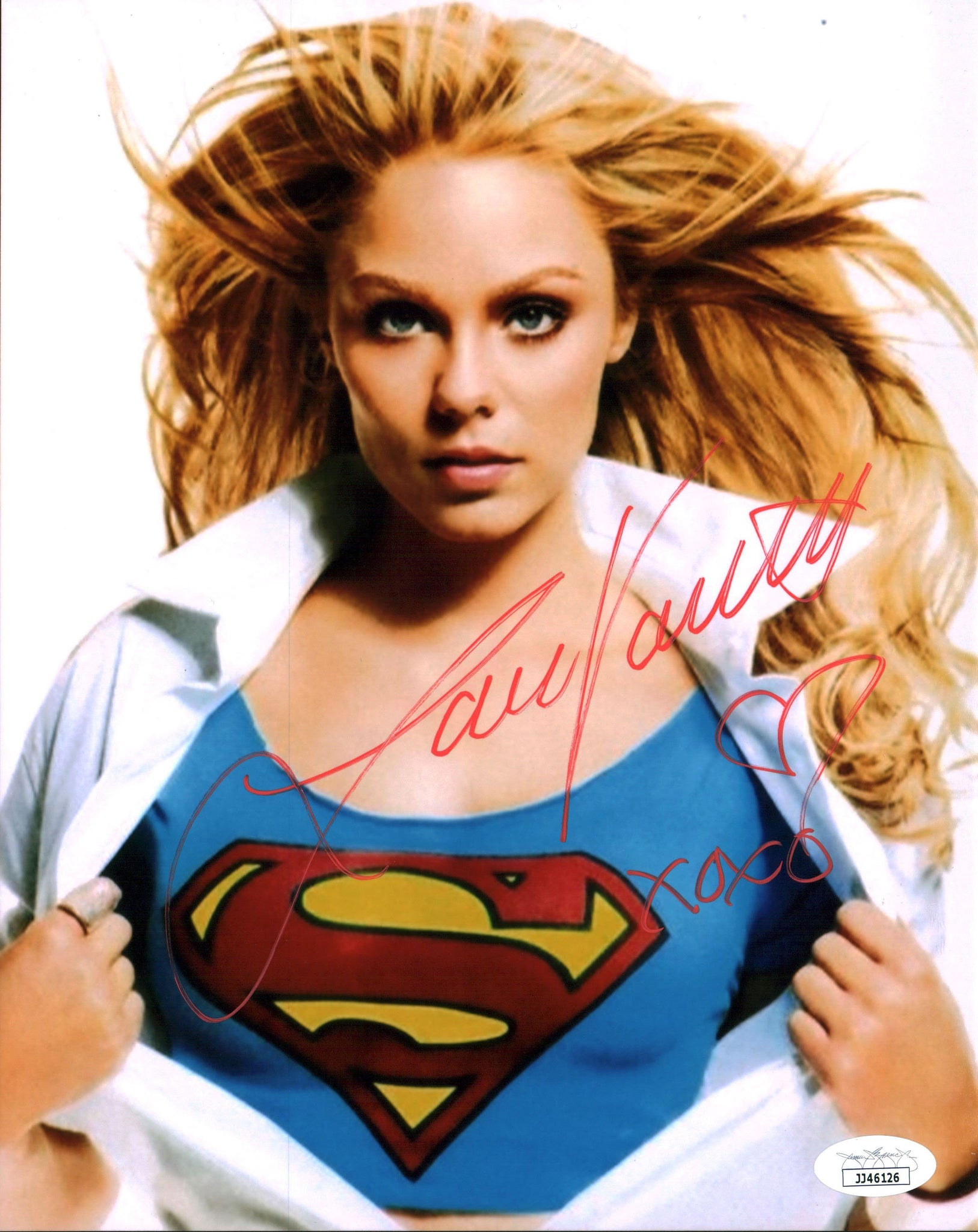 Laura Vandervoort Smallville 8x10 Photo Signed Autographed JSA Certified COA GalaxyCon