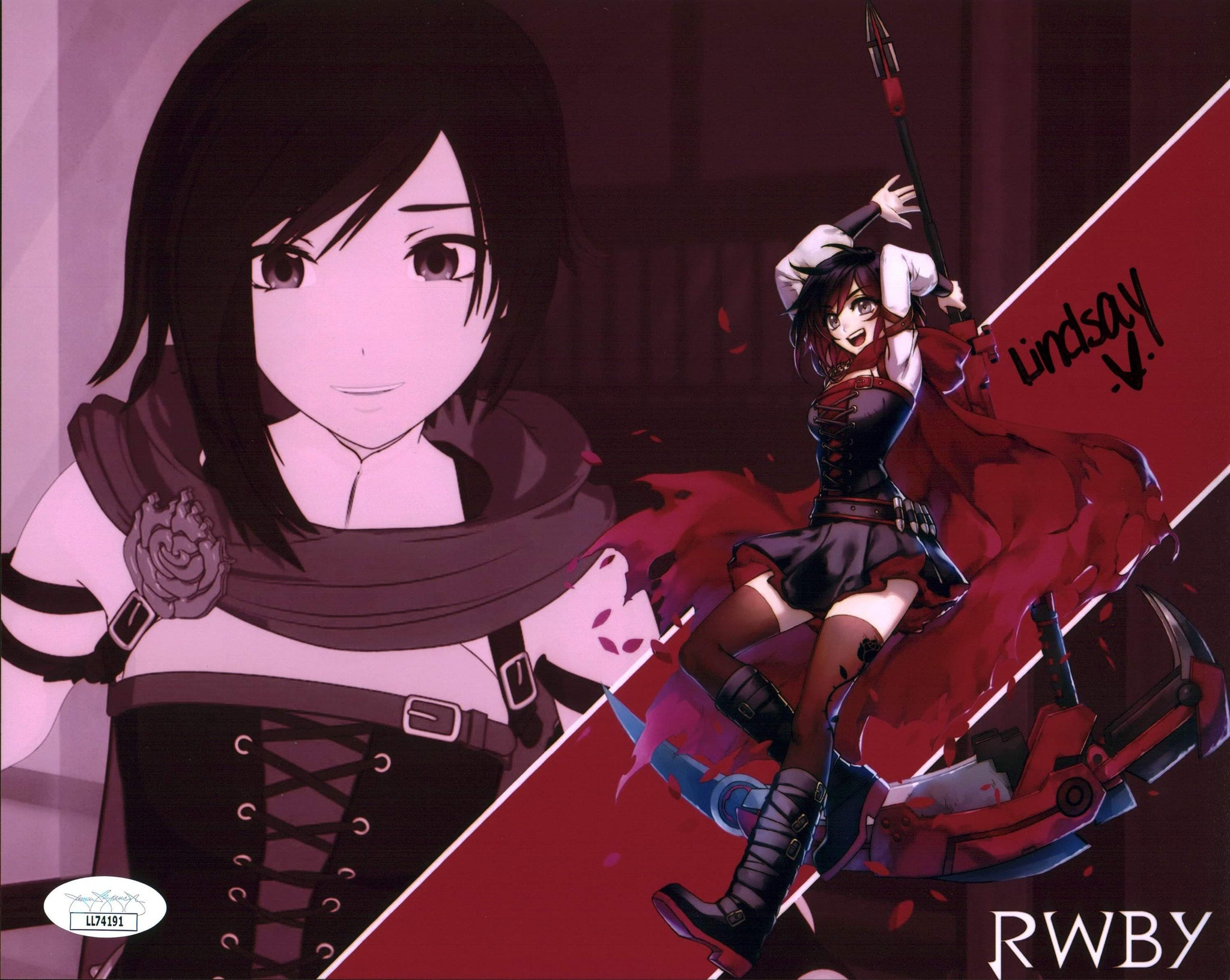 Lindsay Jones RWBY 8x10 Photo Signed Autograph JSA Certified COA Auto GalaxyCon