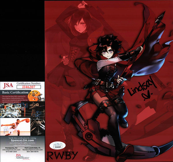 Lindsay Jones RWBY 8x10 Photo Signed Autographed JSA Certified COA GalaxyCon