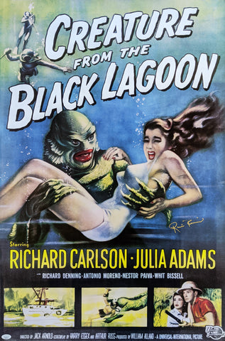 Ricou Browning Creature from the Black Lagoon 24x36 Poster Signed Autograph JSA Certified COA Auto