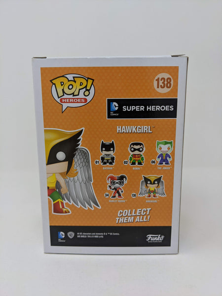 Maria Canals Barrera DCs Super Heroes Hawkgirl #138 Exclusive Signed JSA Funko Pop GalaxyCon