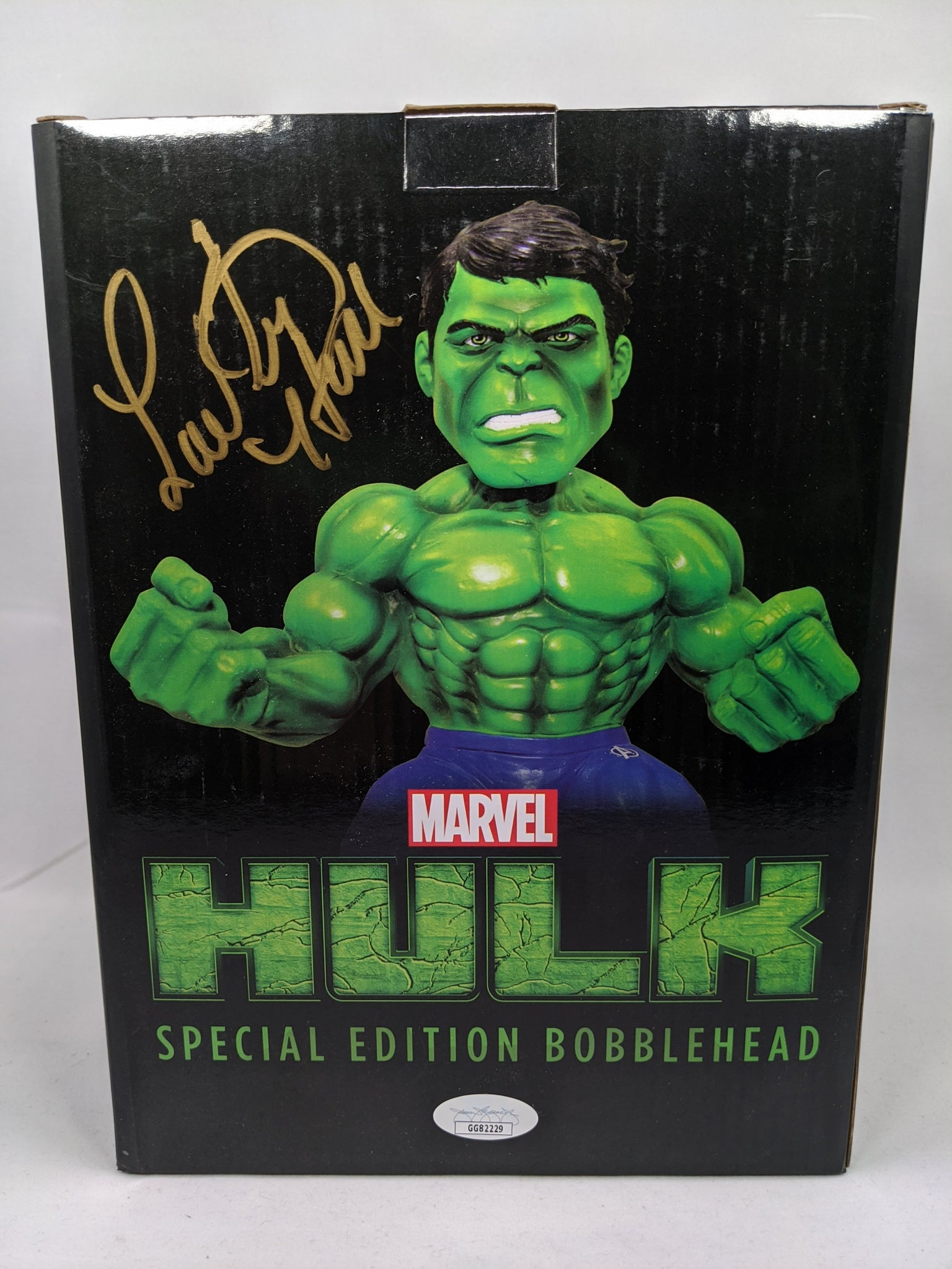 Marvel Hulk Special Edition Bobblehead JSA Certified Vinyl Figure Signed by Lou Ferrigno GalaxyCon
