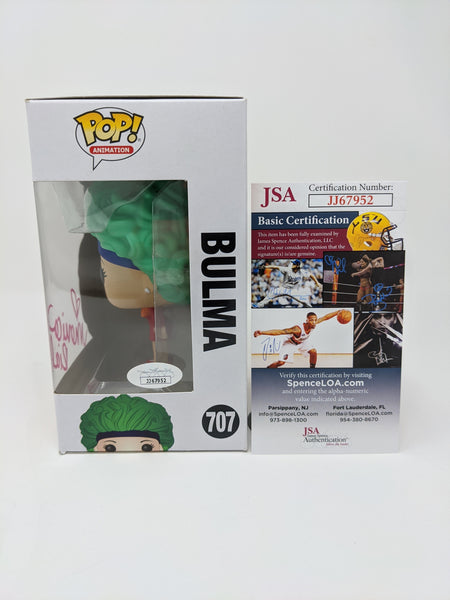 Monica Rial Dragon Ball Z Bulma #707 Signed JSA Funko Pop GalaxyCon