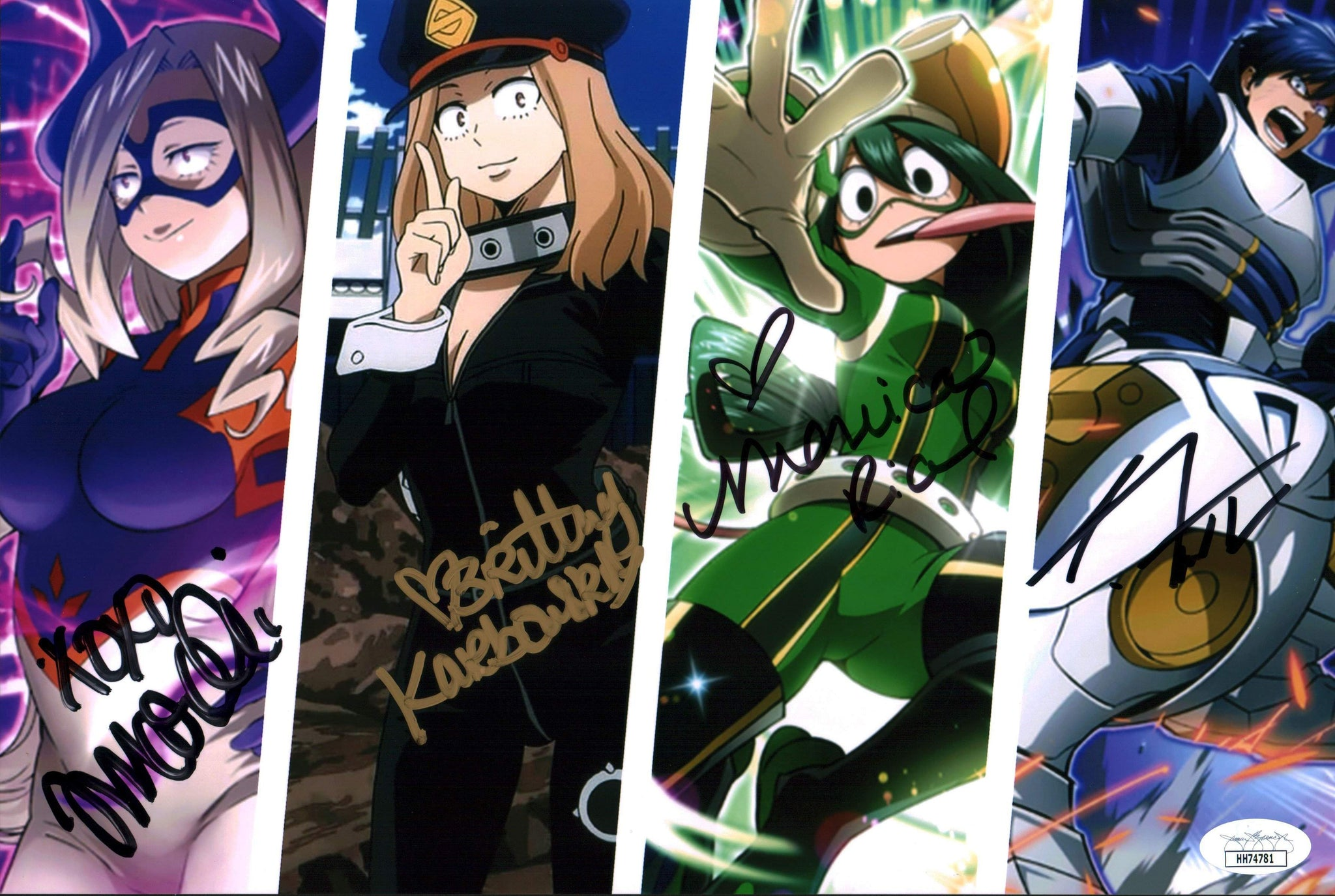 My Hero Academia 8x12 Photo Signed Marchi Karbowski Rial Tatum JSA Certified COA GalaxyCon