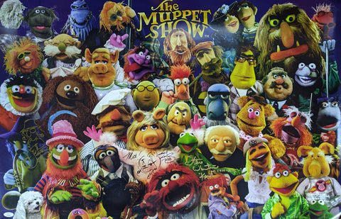 The Muppet Show 24x36 Poster Signed Autograph Whitmire Gilchrist JSA Certified COA Auto
