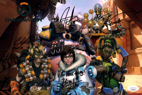 Overwatch 8x12 Photo JSA Certified COA Signed by Cast GalaxyCon