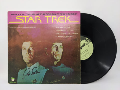 William Shatner Signed Star Trek Peter Pan Vinyl Records #8168 JSA Autograph Auto