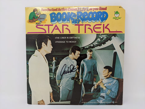 William Shatner Signed Star Trek Peter Pan Book Record Set BR522 JSA Autograph Auto
