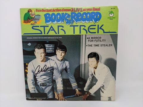 William Shatner Signed Star Trek Peter Pan Book Record Set BR513 JSA Autograph Auto
