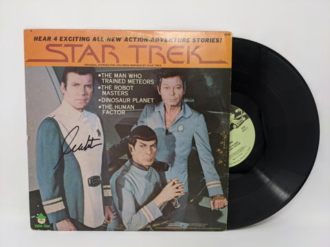 William Shatner Signed Star Trek Peter Pan Vinyl Records #8236 JSA Autograph Auto