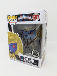 Kerrigan Mahan Power Rangers Goldar #667 Exclusive Signed JSA Funko Pop Auto
