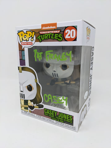 Pat Fraley Teenage Mutant Ninja Turtles Casey Jones #20 Signed JSA Funko Pop Auto