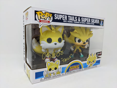 Colleen O'Shaughnessy Sonic Super Tails Silver 2 Pack Exclusive Signed JSA Funko Pop