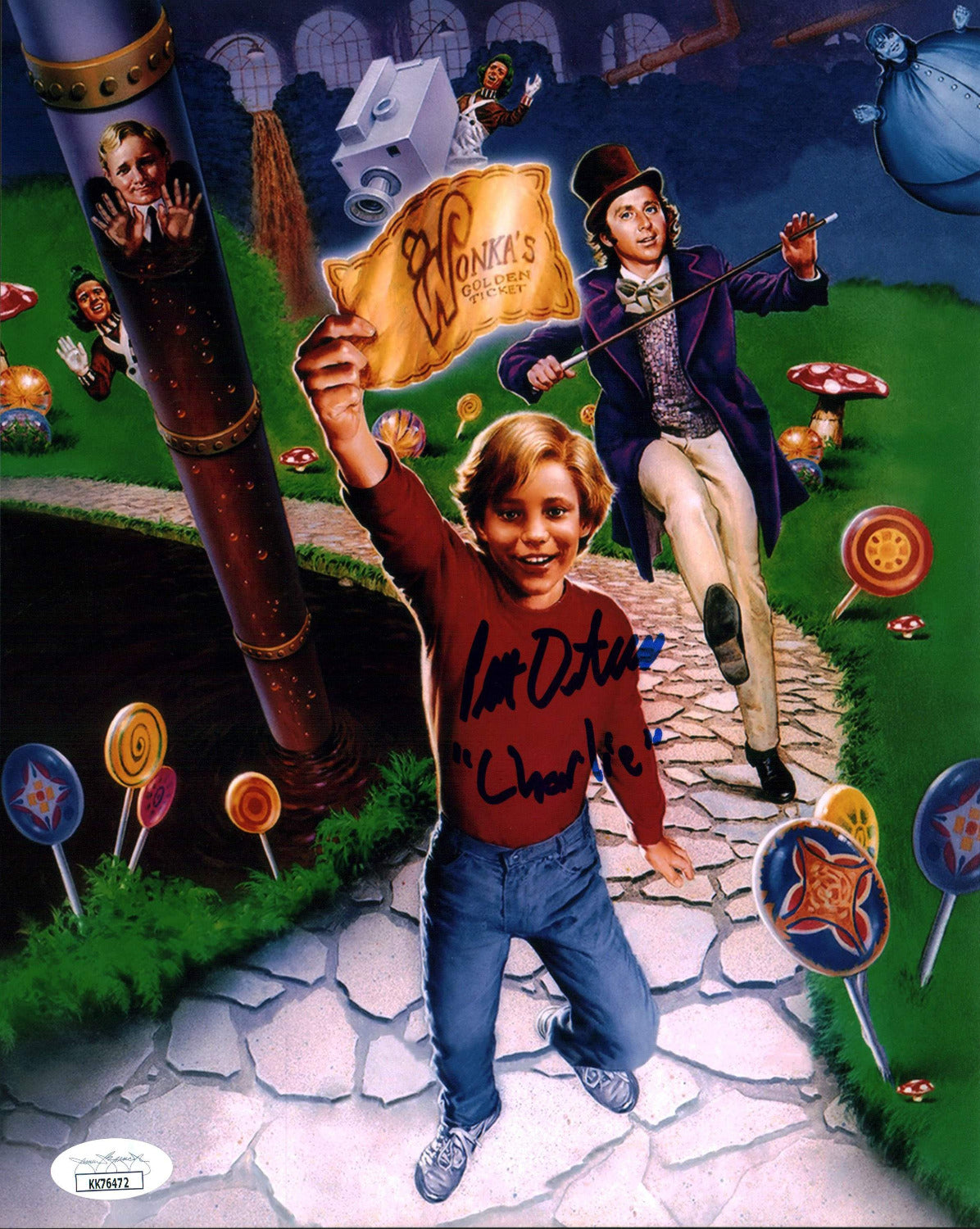 Peter Ostrum Willy Wonka 8x10 Photo Signed Autograph JSA Certified COA Auto GalaxyCon