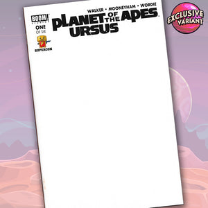 Planet Of The Apes Ursus #1 Of 6 Supercon 2018 Convention Exclusive Blank Sketch Cover GalaxyCon