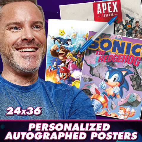 Roger Craig Smith: Personalized Autograph Signing on Large Posters, December 11th