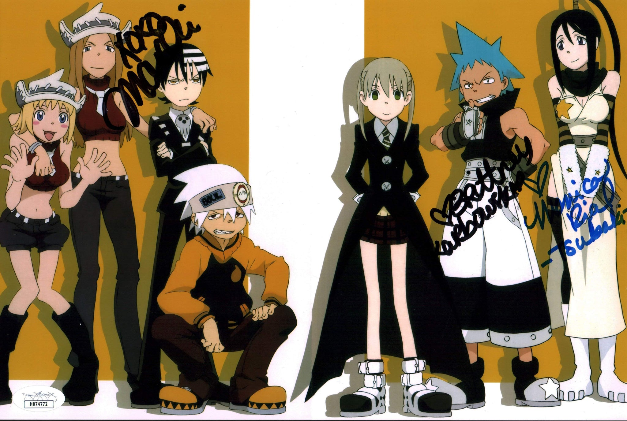 Soul Eater 8x12 Photo Signed Autograph Rial Karbowski Marchi JSA Certified COA GalaxyCon