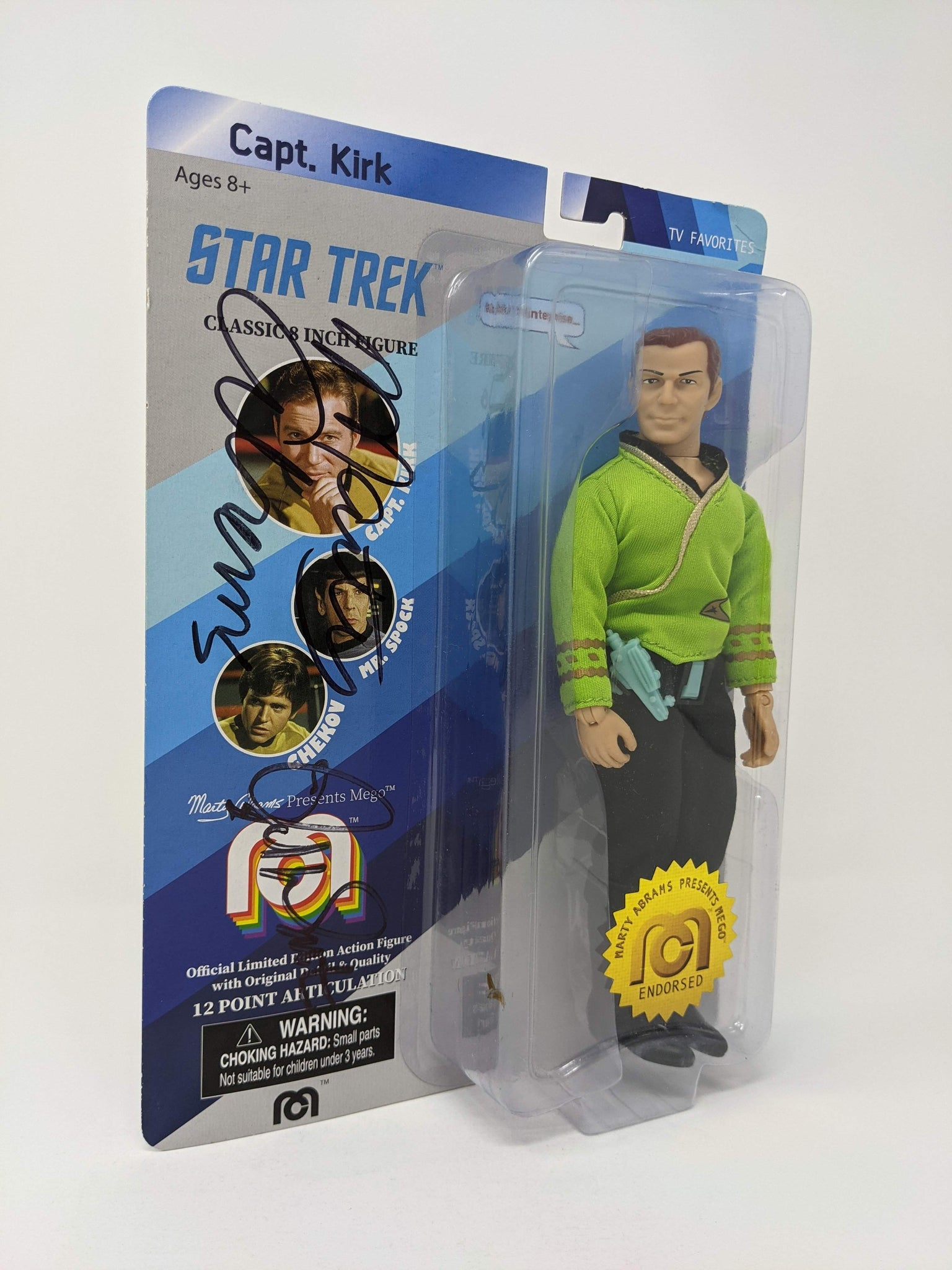 Star Trek Capt Kirk Mego Action Figure JSA Autograph Signed by Shatner Abrams Auto GalaxyCon