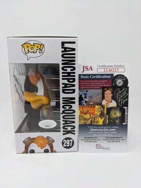 Terry McGovern Darkwing Duck Launchpad McQuack #297 Signed JSA Funko Pop Auto GalaxyCon