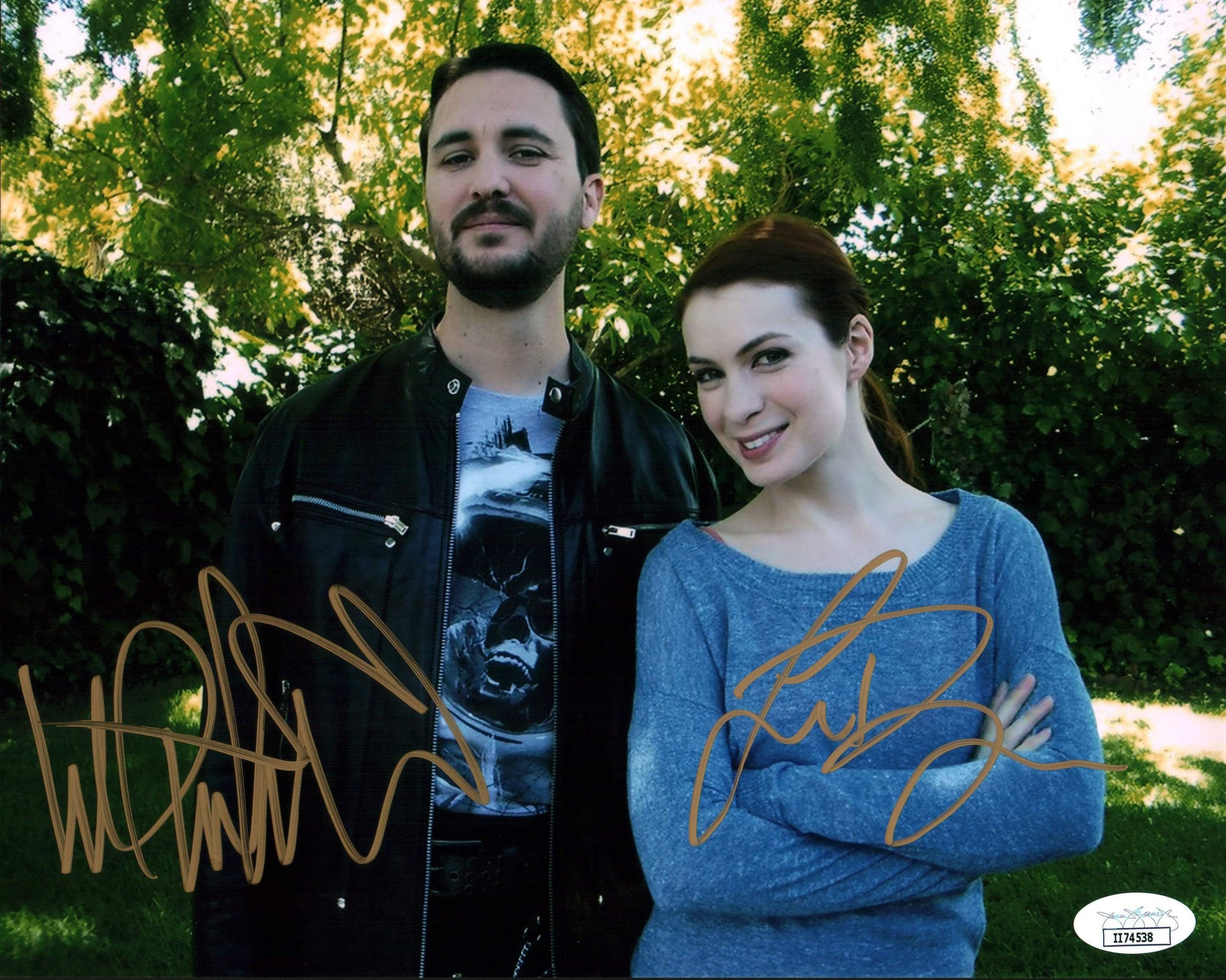 The Guild 8x10 Photo Signed Autograph Wil Wheaton Felicia Day JSA Certified COA Auto GalaxyCon