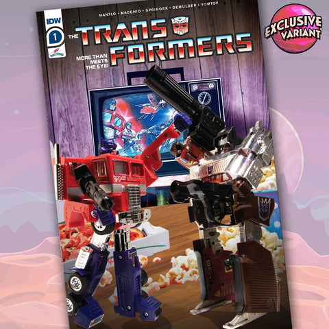 Transformers #1 GalaxyCon Exclusive Action Figure Variant Cover A GalaxyCon